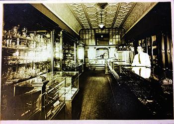 Al Heiser at the original Main Street store.