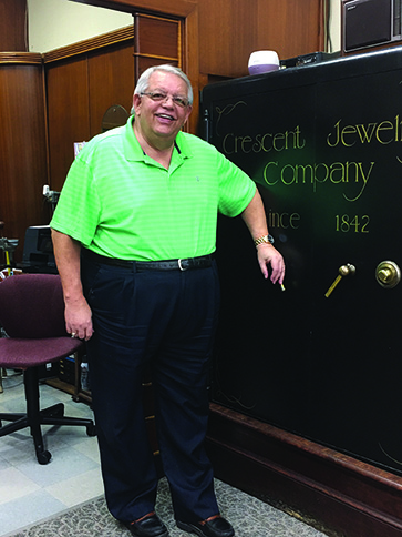 Bobby Heiser, fifth-generation owner of Crescent Jewelers.