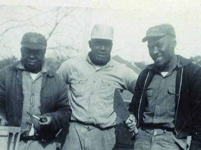 Jimmie Perryman (right) worked in construction after the Korean Conflict.